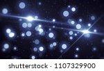 abstract blue bokeh circles on... | Shutterstock . vector #1107329900