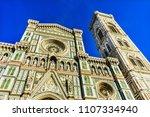 facade duomo cathedral church... | Shutterstock . vector #1107334940