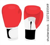 vector illustration red boxing... | Shutterstock .eps vector #1107335549