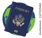 vector illustration world globe ... | Shutterstock .eps vector #1107335684