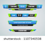 sport scoreboard with time and... | Shutterstock .eps vector #1107340538