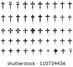 big collection of crosses... | Shutterstock .eps vector #110734436