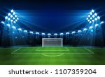 football arena field with... | Shutterstock .eps vector #1107359204