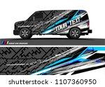 cargo van graphic vector....   Shutterstock .eps vector #1107360950