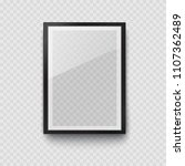 frame with black mat surface... | Shutterstock .eps vector #1107362489
