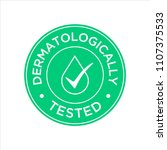 dermatologically tested icon | Shutterstock .eps vector #1107375533