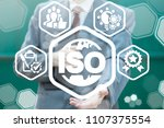 iso quality standards certified ... | Shutterstock . vector #1107375554
