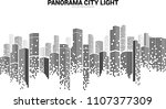 panorama city building... | Shutterstock .eps vector #1107377309