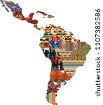 central and south america... | Shutterstock .eps vector #1107382586