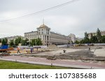 reconstruction of the central... | Shutterstock . vector #1107385688