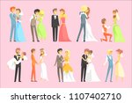 couples getting married | Shutterstock .eps vector #1107402710