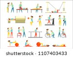 physical therapy infographic... | Shutterstock .eps vector #1107403433