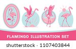 vector collection of pink... | Shutterstock .eps vector #1107403844