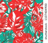 seamless tropical pattern with... | Shutterstock .eps vector #1107404900