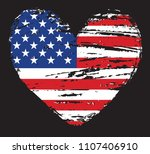 heart shape with usa flag... | Shutterstock .eps vector #1107406910