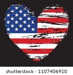 heart shape with usa flag... | Shutterstock .eps vector #1107406910