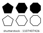 pentagon  hexagon  octagon icon.... | Shutterstock .eps vector #1107407426