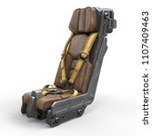 science fiction pilot's seat.... | Shutterstock . vector #1107409463