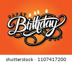 happy birthday greeting card... | Shutterstock .eps vector #1107417200