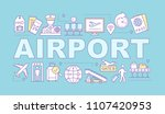 airport service word concepts... | Shutterstock .eps vector #1107420953