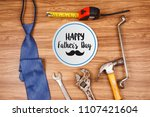 happy father's day card with... | Shutterstock . vector #1107421604