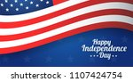 background banner for 4th july  ... | Shutterstock .eps vector #1107424754