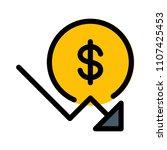 dollar down trend | Shutterstock .eps vector #1107425453