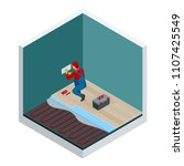 isometric layers of infrared... | Shutterstock .eps vector #1107425549