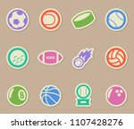 sport balls vector icons for... | Shutterstock .eps vector #1107428276