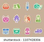 veterinary clinic color vector... | Shutterstock .eps vector #1107428306