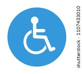 disabled wheelchair icon.... | Shutterstock .eps vector #1107433010