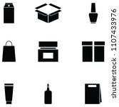 package icon set | Shutterstock .eps vector #1107433976