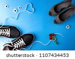 a pair of women s high heel...   Shutterstock . vector #1107434453