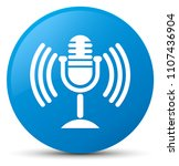 mic icon isolated on cyan blue... | Shutterstock . vector #1107436904