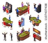 casino playing room isometric... | Shutterstock .eps vector #1107437438