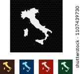 map of italy | Shutterstock .eps vector #1107439730