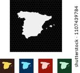 map of spain   Shutterstock .eps vector #1107439784