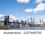 new york city skyline with... | Shutterstock . vector #1107440750