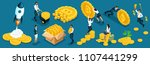 isometric icons investors ... | Shutterstock .eps vector #1107441299