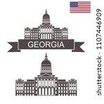 state of georgia.georgia state... | Shutterstock .eps vector #1107446909