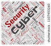 vector conceptual cyber... | Shutterstock .eps vector #1107453260