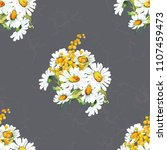 seamless floral pattern with... | Shutterstock .eps vector #1107459473