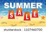 summer sale banner design... | Shutterstock .eps vector #1107460700