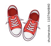 vector illustration. pair red... | Shutterstock .eps vector #1107464840