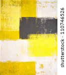 Yellow And Grey Abstract Art...