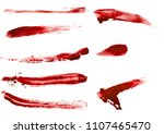 Blood Smears Set On White...