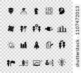 business training icon set | Shutterstock .eps vector #1107472013