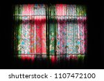 colorful oriental curtains | Shutterstock . vector #1107472100