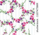 hand painted watercolor pattern ...   Shutterstock . vector #1107475889