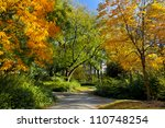 path in the autumn park. autumn ... | Shutterstock . vector #110748254